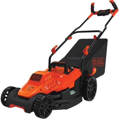 Black & Decker 15 In. 10A Push Electric Lawn Mower With Comfort Grip Handle
