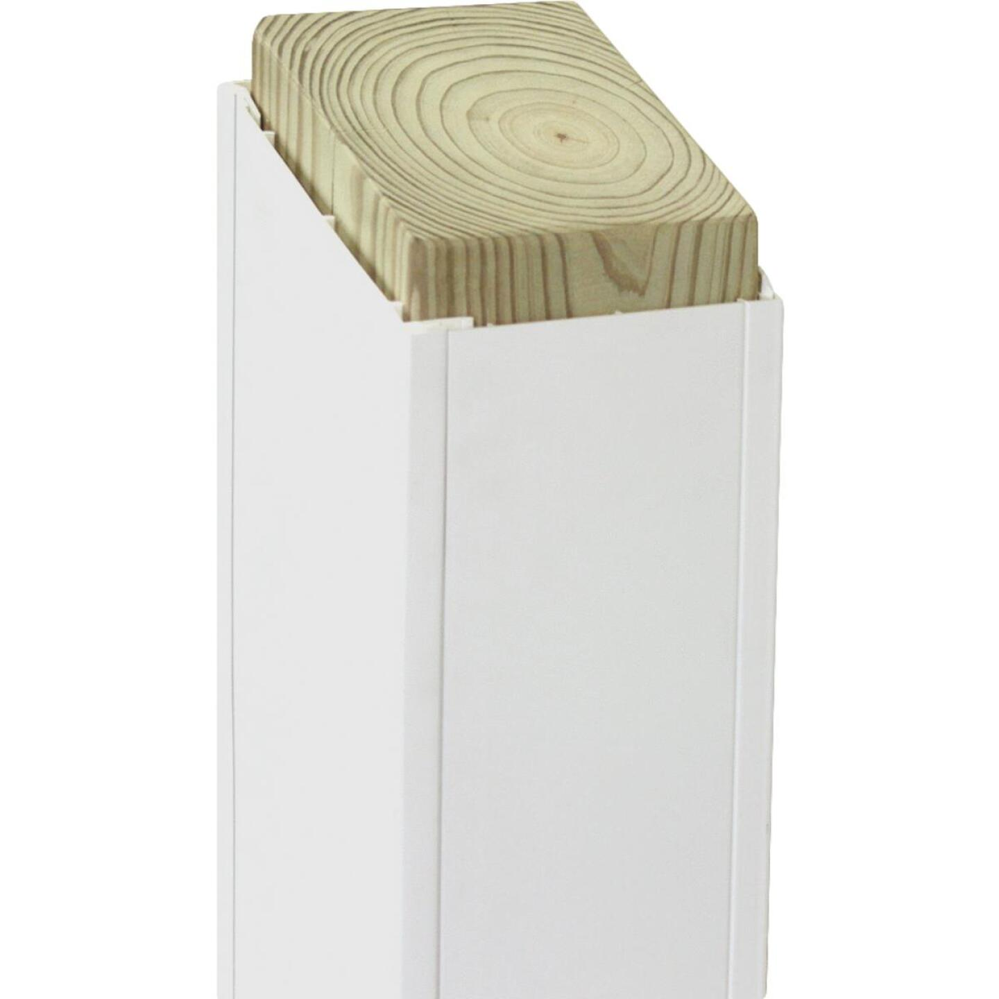 Beechdale 4 In. W. x 4 In. H. x 120 In. L. White PVC Smooth Post Wrap Image 1