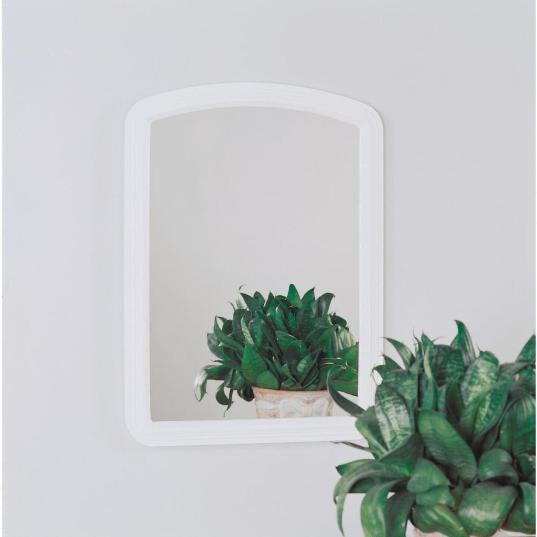 Erias Home Designs Macau 16 In. W. x 22 In. H. White Framed Wall Mirror Image 2