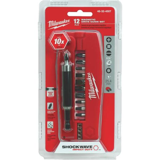 Milwaukee Shockwave Drive Guide Impact Screwdriver Bit Set (12-Piece)