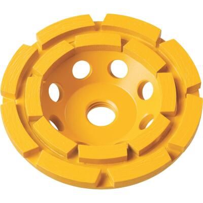 DeWalt 4 In. Segmented Double Row Masonry Cup Wheel