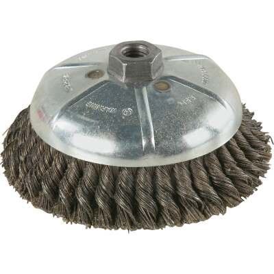 Weiler Vortec 6 In. Knotted 0.02 In. Angle Grinder Wire Brush