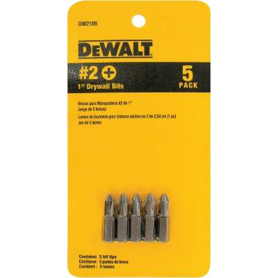 DeWalt Drywall Screwdriver Bit Set (5-Piece)