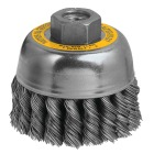 DeWalt 3 In. Knotted 0.020 In. Angle Grinder Wire Brush Image 1
