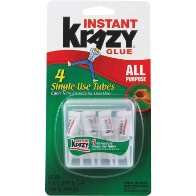 Krazy Glue 0.02 Oz. Liquid Single Use All-Purpose Super Glue (4-Pack)
