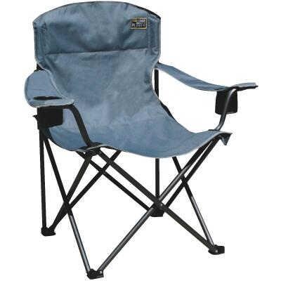 Bravo Sports Blue Polyester Heavy-Duty Folding Chair