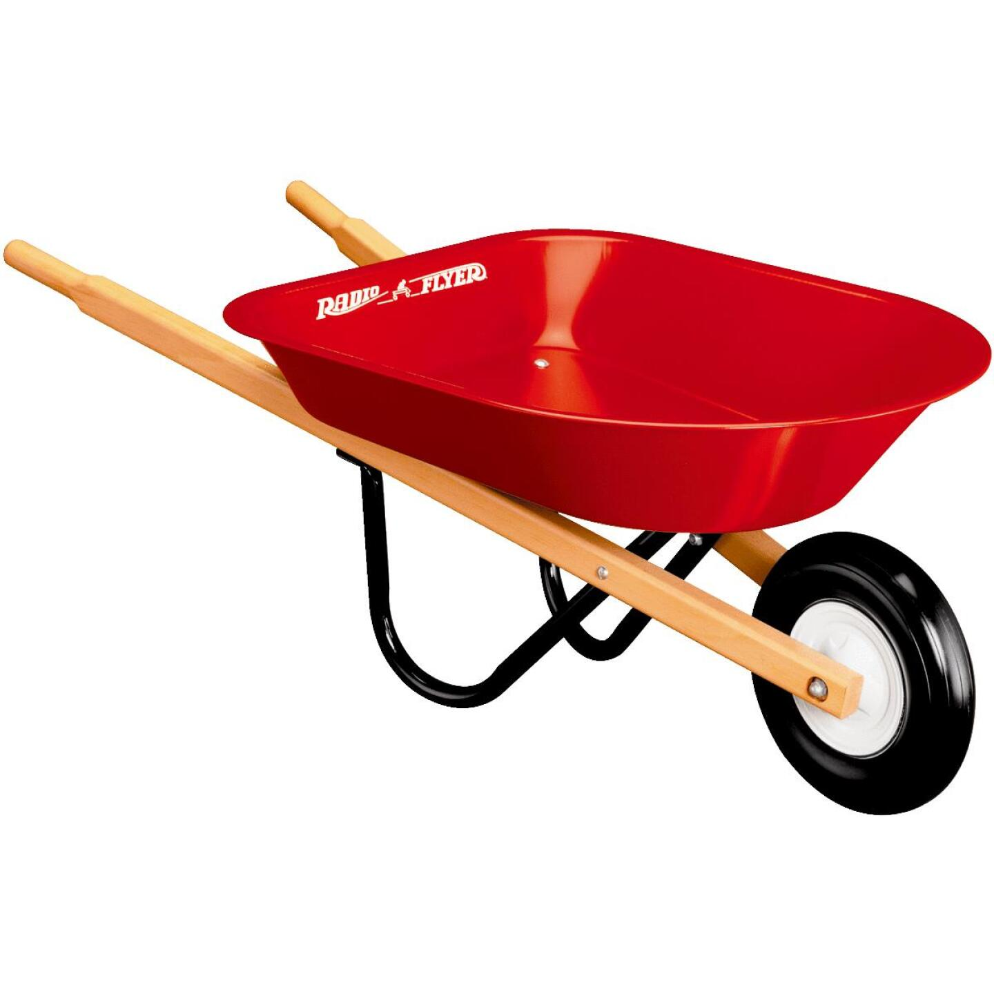 Radio Flyer 30 Lb. Steel Kid's Wheelbarrow Image 1