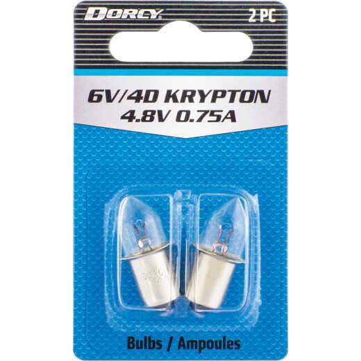 Dorcy Active Series Krypton 4.8V Flashlight Bulb (2-Pack)